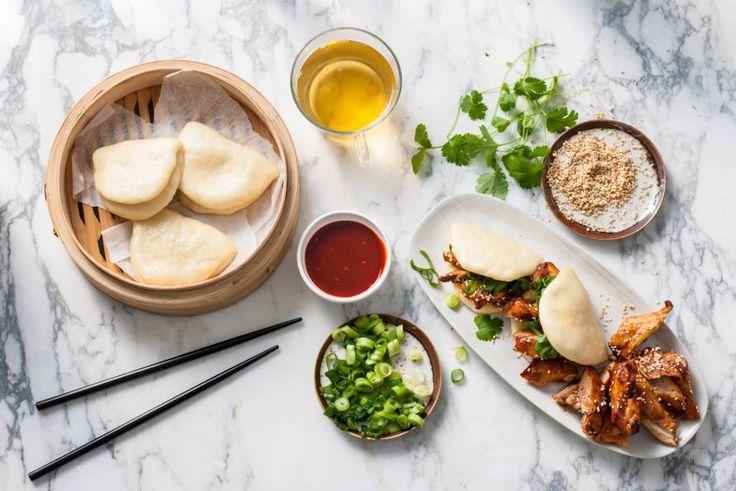Kijk wat een lekker recept ik heb gevonden op Allerhande! Steamed buns met Koreaanse kip