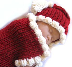 Baby Bobbles Cocoon & Hat Christmas Knitting Patterns For Holiday Feelings