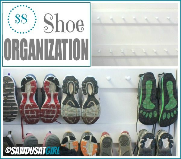 Easy Entry Organization with Shoe Pegs via @Sandra Pendle Powell {Sawdust Girl}
