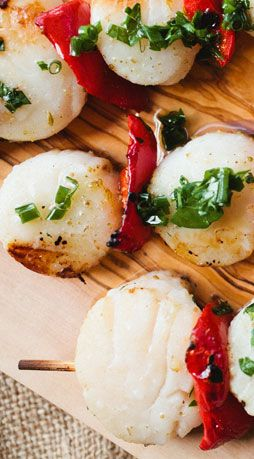 scallop skewers with herb oil scallop skewers recipe the herby ...