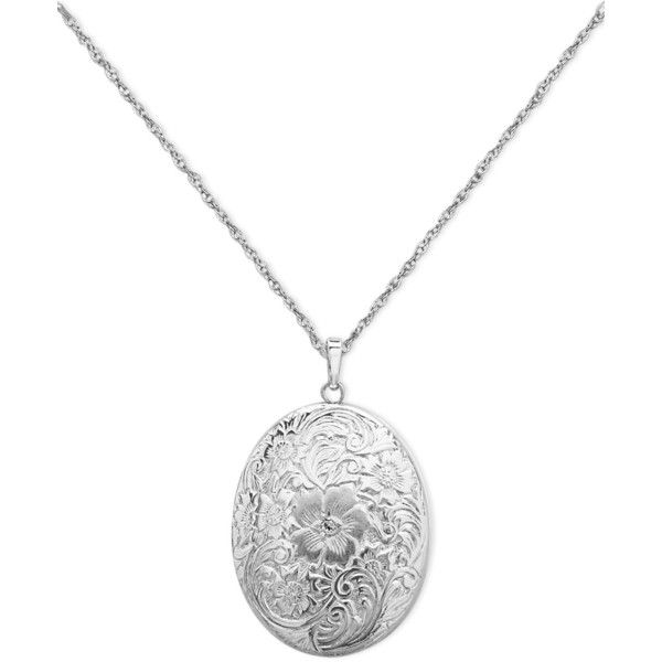 Sterling Silver Necklace, Four Photo Engraved Locket ($100) ❤ liked on Polyvore featuring jewelry, necklaces, accessories, no color, engraved locket, locket necklace, engraving necklaces, engraved locket necklace and sterling silver jewelry