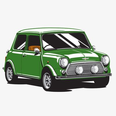 Mini Cooper Car - British Racing Green