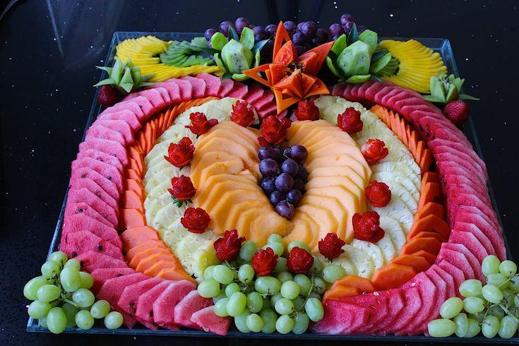 Cómo hacer un corazón de fruta picada para fiesta #3 - arte con fruta - ...
