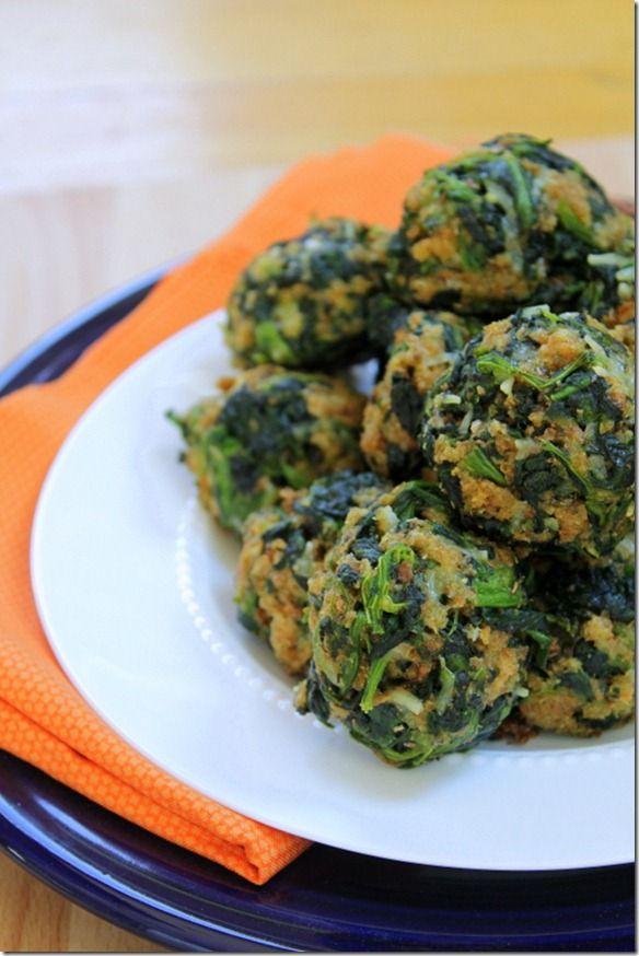Baked spinach parmesan balls appetizer