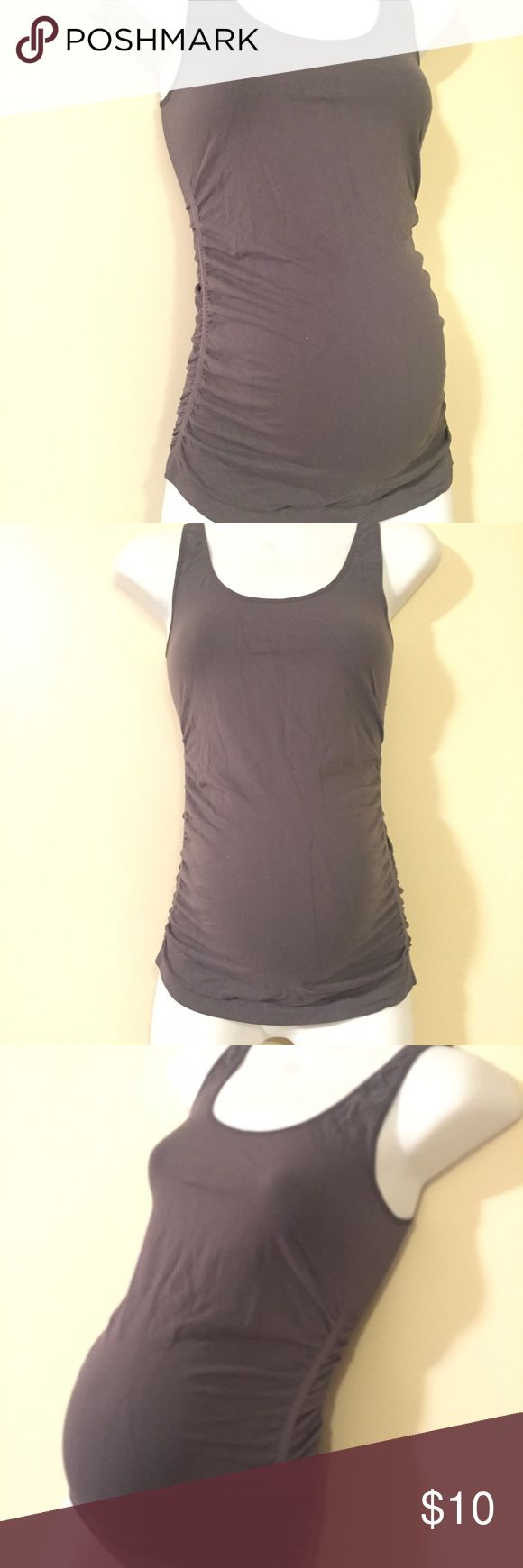 Stretchy maternity cami size small medium Great condition stretchy maternity cami size small medium. Ruched sides and long length. Perfect as an under shirt or under a cami or jacket. Tops