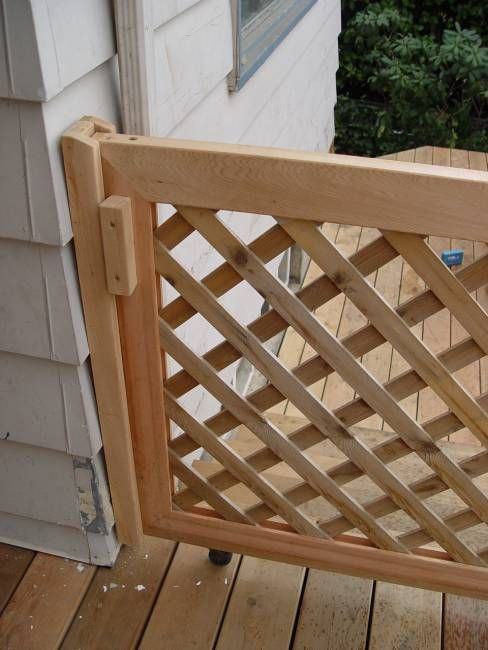 Sliding Deck Gate Plans - WoodWorking Projects & Plans