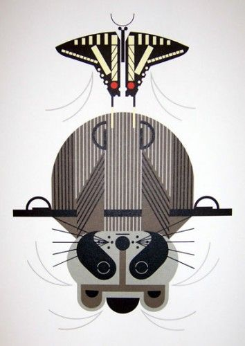Raccrobat - by Charley Harper I have this as a needlepoint canvas