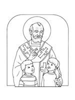 19 different St. Nicholas coloring pages in various styles.   Free to print for non-profit use :)