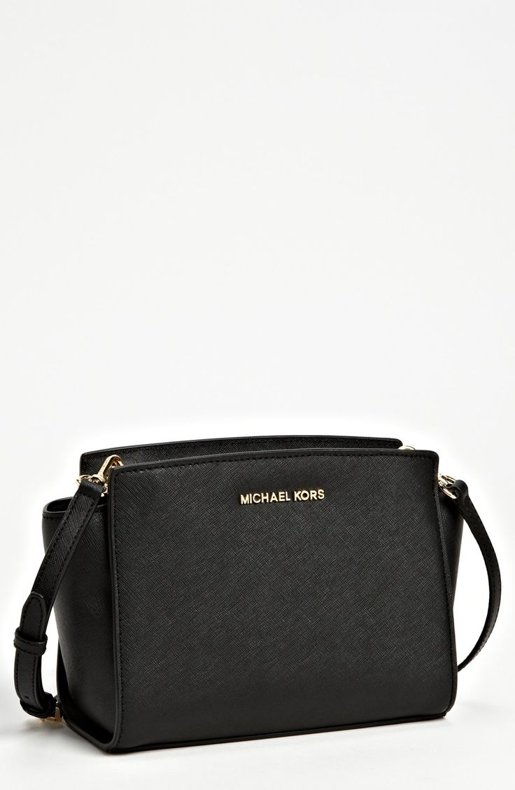 Free shipping and returns on MICHAEL Michael Kors 'Medium Selma' Saffiano Leather Crossbody Bag at Nordstrom.com. Richly textured Saffiano leather graces the architectural silhouette of an elegant shoulder bag with gleaming logo hardware.