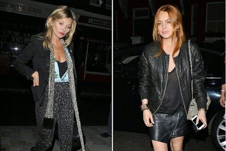 Supermodel #KateMoss FIGHTS With #LindsayLohan Ove...