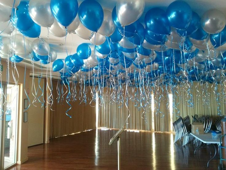 Bring a room to life with sapphire blue and white free for Ceiling decoration items