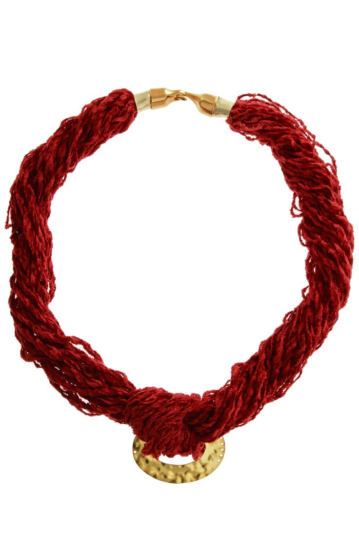 Red velcet statement necklace