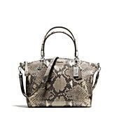COACH Madison Embossed Python Small Kelly Tote