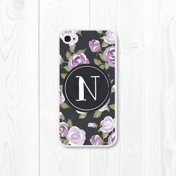 Hey, I found this really awesome Etsy listing at https://www.etsy.com/listing/172989532/purple-monogram-floral-iphone-case
