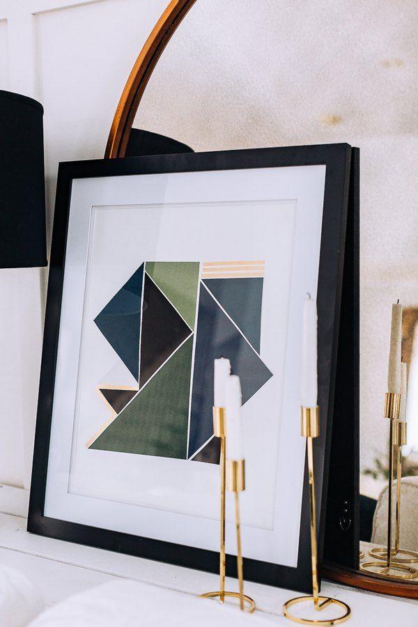 Affordable Modern Art You Can Easily Make Using Scrapbook Paper Hunker Geometric Art Diy Scrapbook Paper Wall Art Geometric Wall Art Diy