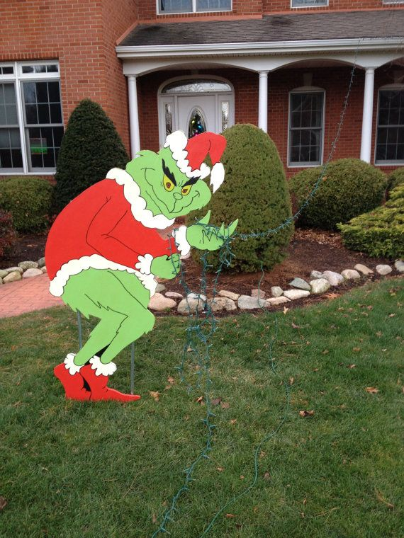 Hey, I found this really awesome Etsy listing at https://www.etsy.com/listing/218064704/grinch-stealing-christmas-lights-yard