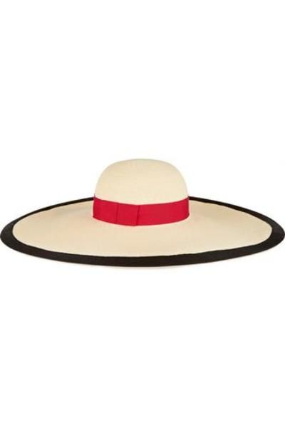Sunny grosgrain-trimmed toyo sunhat #accessories #sunny #covetme #eugeniakim