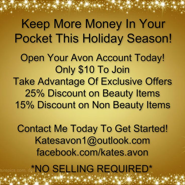 Open Your Avon Account Today And Take Advantage Of The Discounts On All Your Christmas Presents This Year!! www.shopwithkatie.com