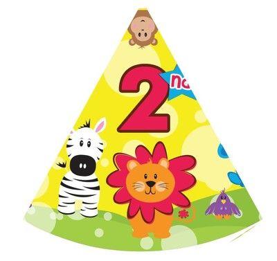 День рождения партийные шляпы головной убор / платье 123456789-летний день рождения шляпы шляпа желтые лесные животные - Taobao