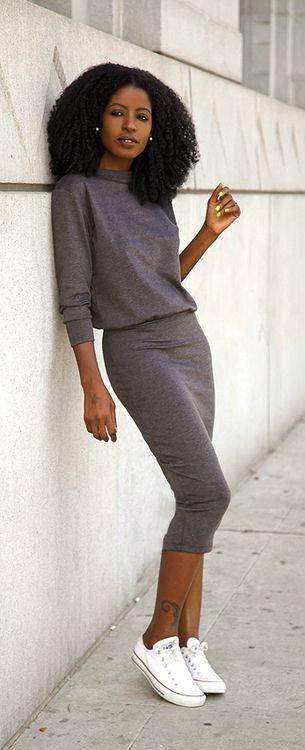 Sweatshirt Midi Dress / Style Pantry