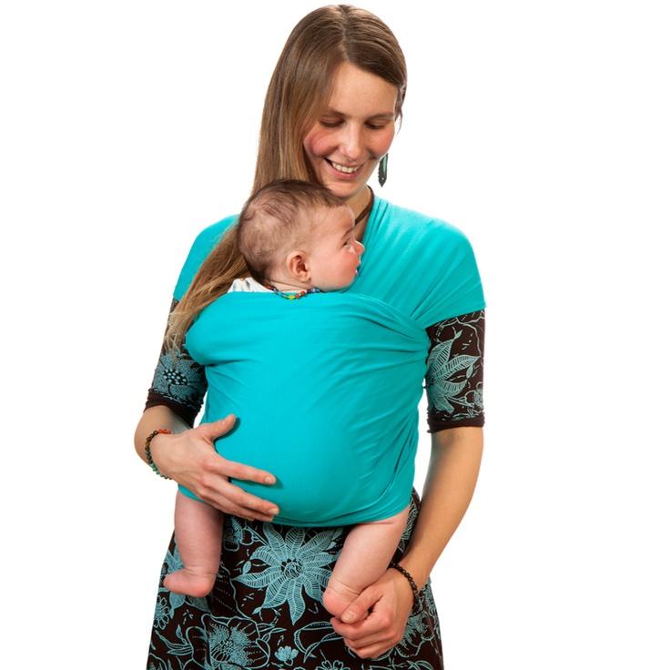 Liliputi® Strechy Wrap Classic line - Turquise Summer Babywearing & More!  #liliputi #babycarrier #babywearing #wrap