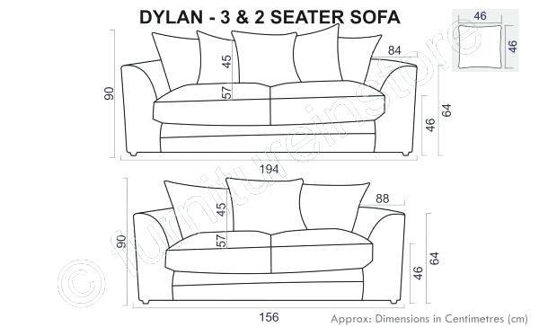 Standard 3 Seater Sofa Size With
