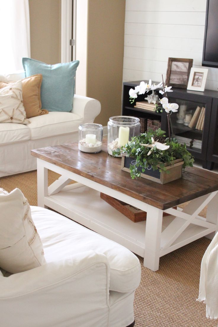 Spring 2016 at starfish cottage the family room and kitchen starfish cottage coffee table want