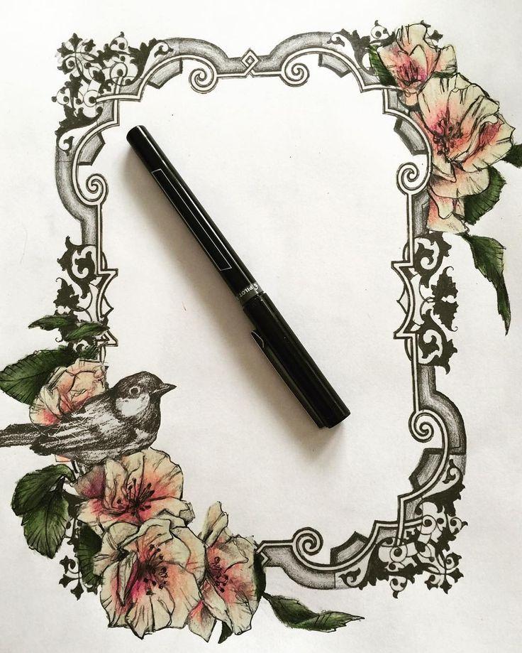 Frame tattoo design by Alyssa McNall