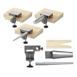 """Bench Anvil Combo Kit - """"It comes with a ring mandrel, a wooden bench pin, and a bracelet mandrel. A must-have tool for bench jewelers, this combo set includes a standard 1- to-15-size ring mandrel, oval bangle mandrel and slotted wooden pin for holding ring and other bench-working items."""""""