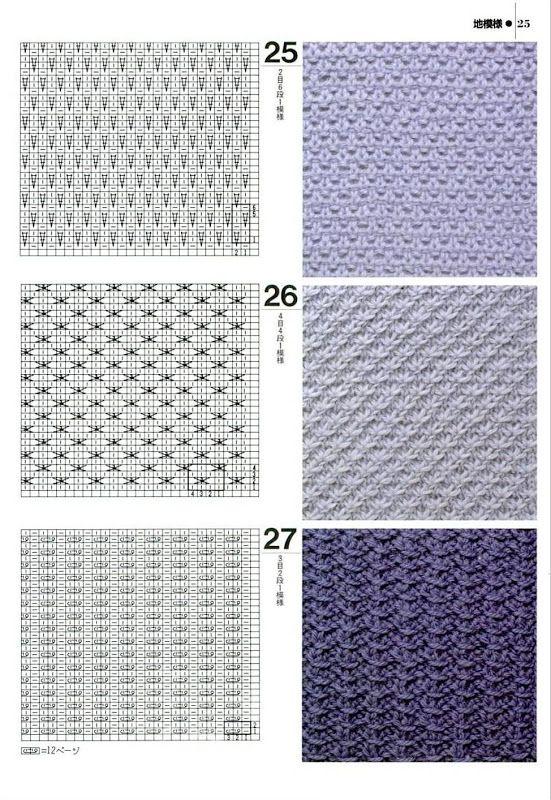 для изготовления плотный узор вязания спицами фото пять