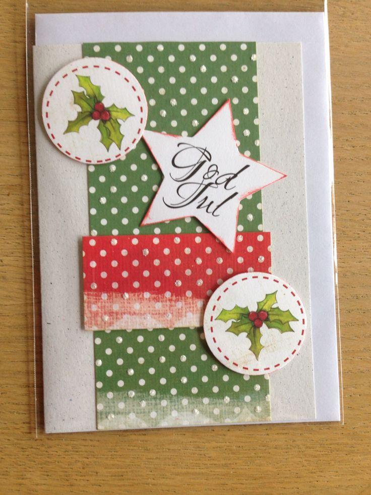 Håndlavet kort / handmade Christmas card