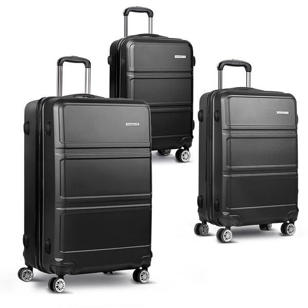 "3pc Luggage Set 20, 24 and 28"" – Black – Click Online Sales"