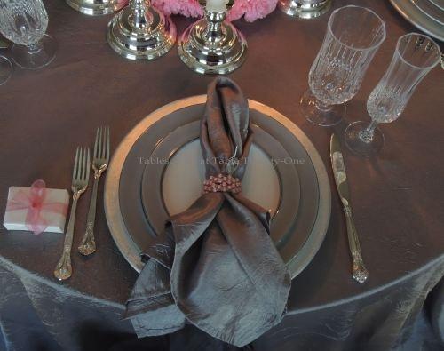 Platinum and Pink Valentine Tablescape