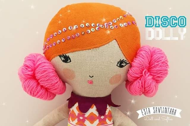 Disco dolly Linen doll IDR 165K