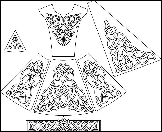 irish dance dresses embroidery - Google Search