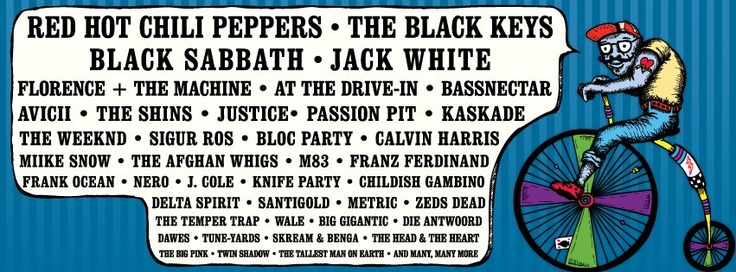 The 2012 Lollapalooza lineup has been announced. This year's main stage headliners include Red Hot Chili Peppers, the Black Keys, Jack White and Black Sabbath. Other bands playing include At The Drive...