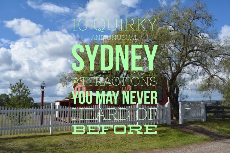Attractions and sights in Sydney that are off-the-beaten path and not in any guide book. Unusual ideas of things to do for visitors and tourists alike.
