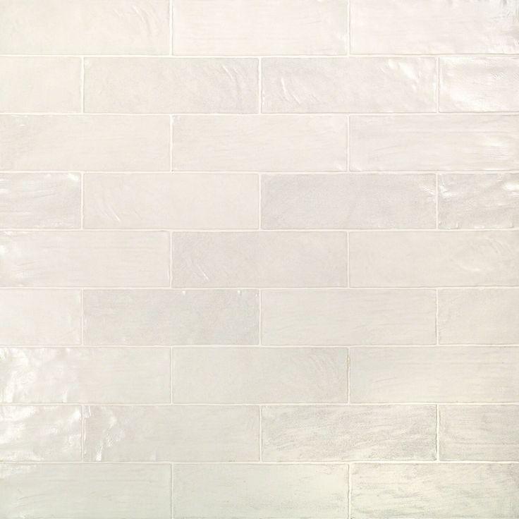 Montauk Gin 2x8 White Ceramic Wall Tile With Satin Finish