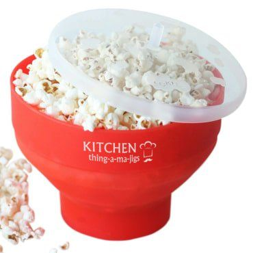 Microwave Popcorn Popper, BPA-Free, Pop The Corn With No Oil, Dishwasher Safe, Collapsible, Red Silicone Bowl, A Healthy Snack Maker * You can find more details by visiting the image link.