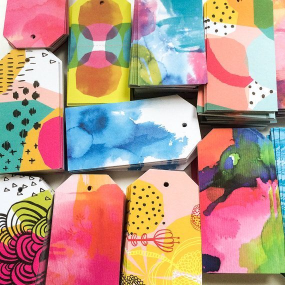 watercolor gift tags - wow!!! I want them all