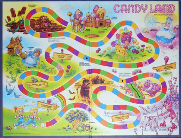 Photo of candyland board for fans of Candy Land.
