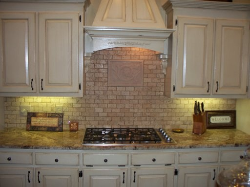 Tumbled Marble Subway Tile Backsplash Backsplash White