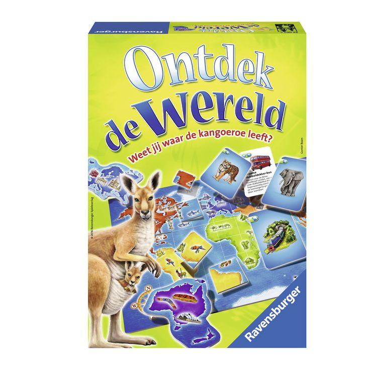 Waar leven de zebra en de olifant? Wie kent het vrijheidsbeeld en wie weet waar de piramides staan? Veel plaatjes nodigen uit onze aarde te ontdekken. Vergelijk de kaartjes met het speelbord en zoek de plekken van de afgebeelde plaatjes. Maak ze compleet en win zo de meeste punten! Helemaal zonder tekst krijgen de kinderen hun eerste oriëntatie op de wereldkaart. Met extra informatie bij de dieren en bezienswaardigheden van de continenten, groeit het spel met de kinderen mee. Inhoud: 1…