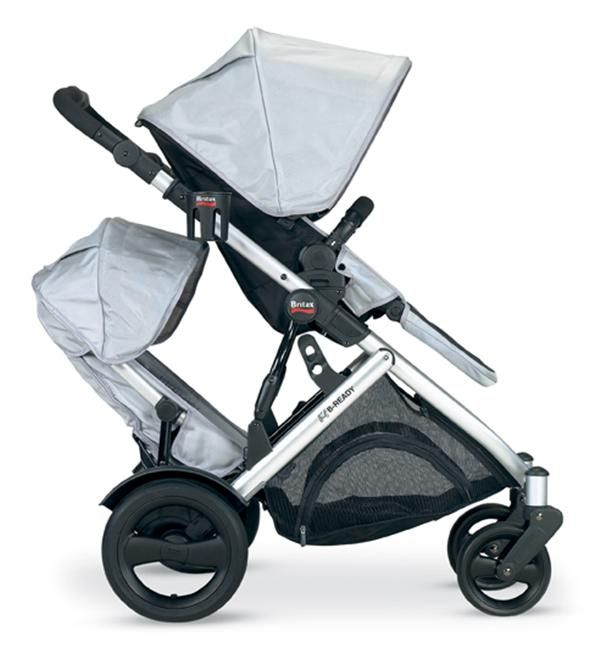 2012 B READY Stroller In Silver With Second Seat