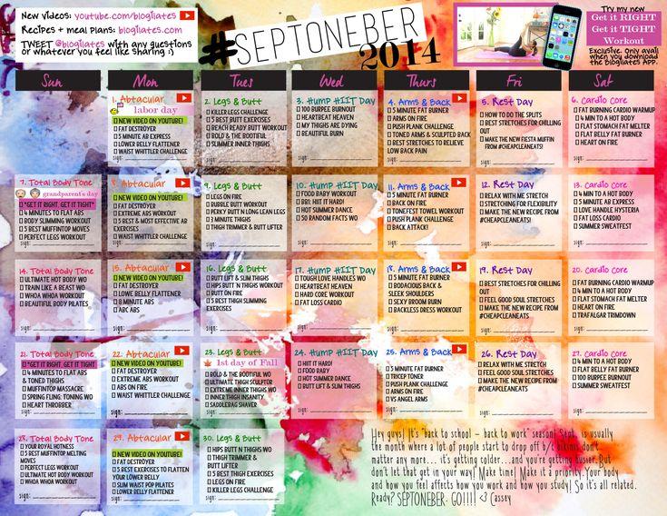 36 best Blogilates. images on Pinterest | Workout calendar ...