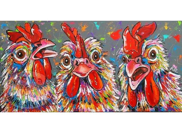 Meer dan 1000 idee n over kippen op pinterest kippenrassen kriel kippen en boerderijen - Entree schilderij ...