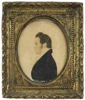 Miniature Portrait attributed to Rufus Porter,: American Folk, Folk Art, Rufus Porter, Portraits Attributes, Portraits Miniatures, Itin Murals, Miniatures Portraits, American Portraits, Porter Miniatures