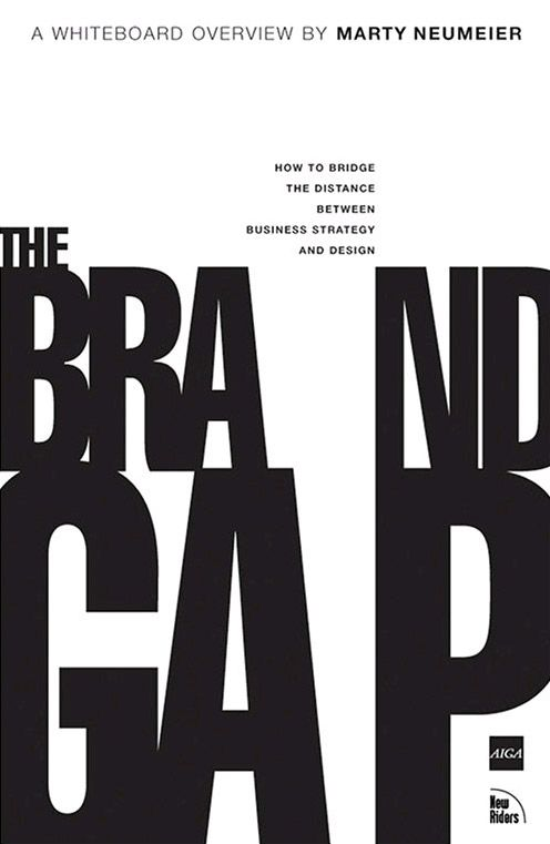 The Brand Gap; Great read, and I love the type play with the title