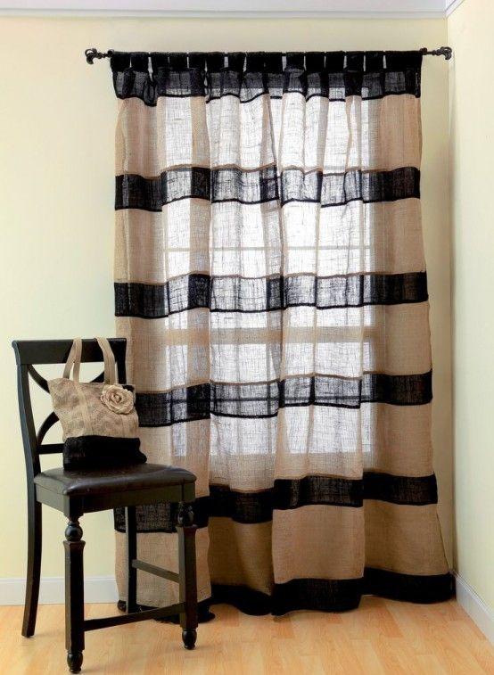 15 pines de cortinas de cocina de arpillera que no te