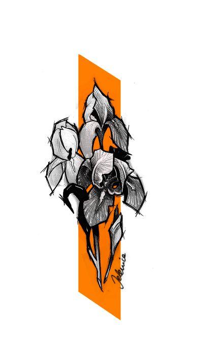 FB: fb.com/jelenica.ink IG: instagram.com/jelenica_ink  #flowers #tattooflash #flash